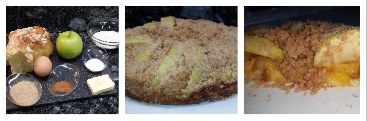 Torta colomba, mele e crumble – ricetta